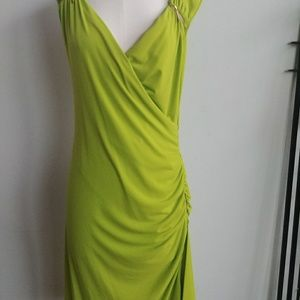Chartreuse green Michael kors dress with zippers